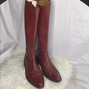 Rocco P. Shoes Knee High Pointed Toe Boots